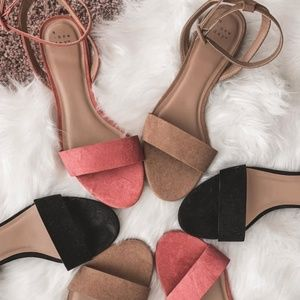 A New Day Pink Winona Ankle Strap Dress Sandals